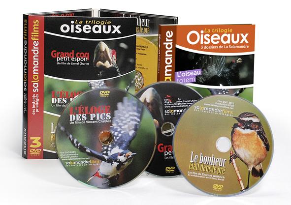 la trilogie oiseaux 3 dvd 1 livre la salamandre. Black Bedroom Furniture Sets. Home Design Ideas